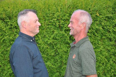 BRØDRE: Tvillingene Jan (til venstre) og Per Syversen er to veldig forskjellige personer, men  like på mange vis.