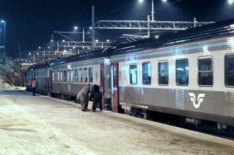 Kuldestopp: Tog 95 fra Narvik til Luleå havarerte i minus 39 grader onsdag kveld. Det ble en kald opplevelse for passasjerene. Arkivfoto: Kristoffer Klem Bergersen