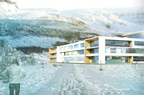 Sisse av nye Narvik sykehus (Foto: Arkitema og Borealis Arkitekter)