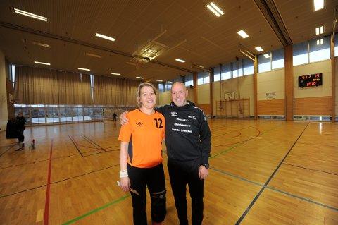 Maria Bostad Dahl med sensasjonelt keeper-comeback for Ankenes HK lørdag. Foto: Kjell Kolsvik