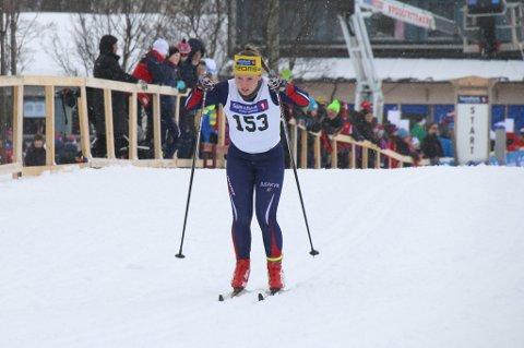 Ina Nylund fra Bjerkvik gikk inn som 6.beste i J14-klassen
