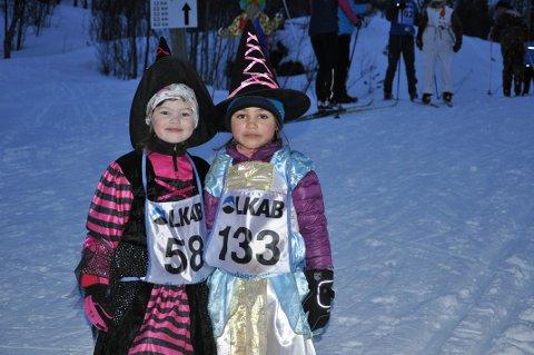 Tiril Stokkedal og Elvira Crogh var flotte unge damer i tirsdagsrennet i Kobberstadløypa.