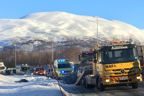 OMKOM: Lars Johan Lingrasmo (83) fra Nordkjosbotn omkom i ulykken i Ramfjord mandag. Kona, som var passasjer, er fortsatt innlagt på UNN.