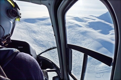 Arkivfoto fra en av politiets tidligere kontroller med helikopter.