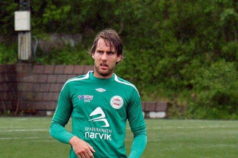 Spilte 90 minutter: Ole Petter Svedenborg spilte 90 minutter for Hardhaus i serieåpningen og var involvert i situasjonen der Kenth Ivar Kvitvik fikk marsjordre.