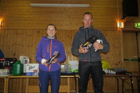 Vinnerne av 11 km: Kaia Rasmussen og Thomas Johnsen