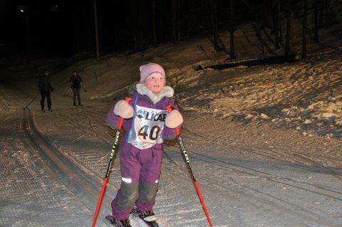 Hedda Hope Tiller deltok i tirsdagsrenn i Kobberstadløypa.