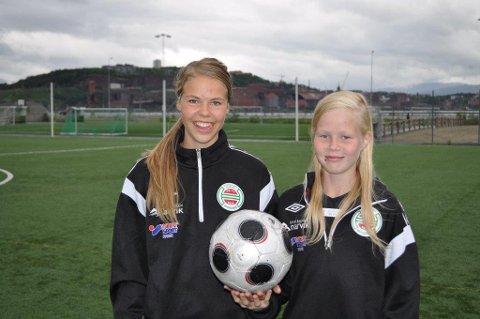 Vilde Fjelldal, til venstre og Katrine Winnem Jørgensen.