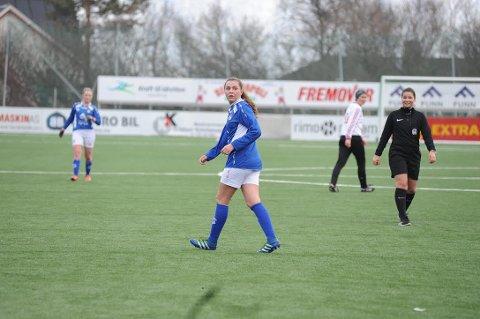 Celina Johnsen Aasheim starter seriekarrieren i Mjølner med to mål. Foto: Martin Fredriksen