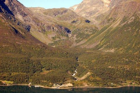 RITAELVA: I dette området kommer det nytt kraftverk.
