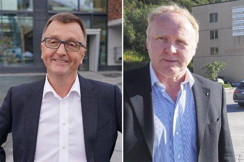 MEST OG MINST: Ifølge skattetallene for 2018 tjente Roger Bergersen (t.h) mest av alle politikerne i det nye kommunestyret i Narvik. Minst tjente Jan Olav Opdal.
