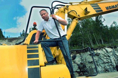Daglig leder Frank Eriksen i Målselv Maskin & Transport.