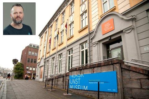TURISTKNIPE: To finske turister trodde at de var låst inne på Nordnorsk Kunstmuseum torsdag ettermiddag. Etter en telefon til politiet og påfølgende leteaksjon, ble de funnet, forteller kommunikasjonsansvarlig Kjetil Rydland (innfelt).