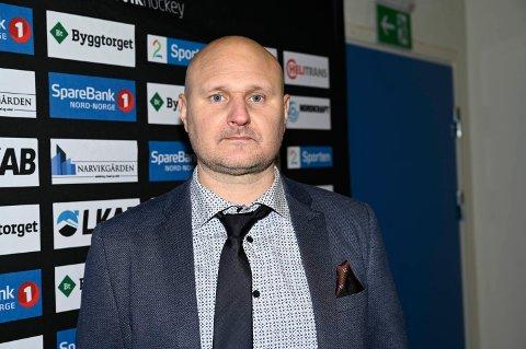 TRENER: Mikael Kvarnström mener Narvik må jobbe i en ekstra bratt motbakke som følge av at de er en relativt ny klubb på øverste nivå i norsk hockey.