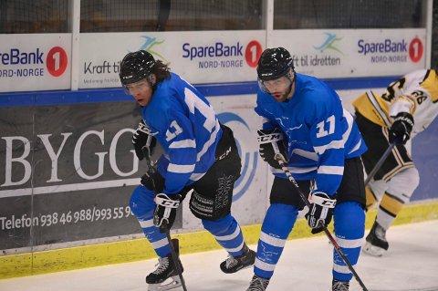 DUO: Benjamin Byrkjeland og Marcus Nordlund i Narvik hockey.