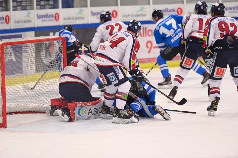 KARANTENE: Lillehammer-spilleren fikk fire kamper karantene etter en takling i denne kampen torsdag.