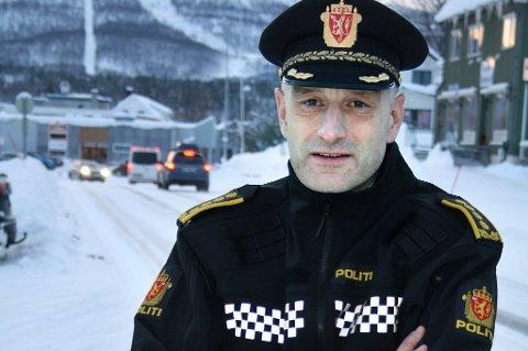 I GOD BEHOLD: Lensmann i Midt Troms lensmannsdistrikt, Andreas Nilsen, sier at mannen ble funnet i god behold.
