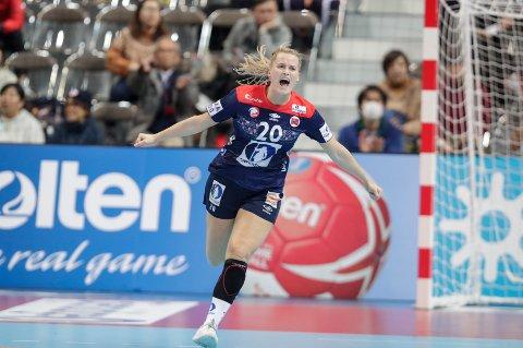 Marit Røsberg Jacobsen scoret tre i lørdagens kamp mot Tyskland i EM i håndball.