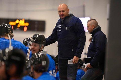 TRENER: Mikael Kvarnström, Narvik hockey, er klar for hjemmedebut.