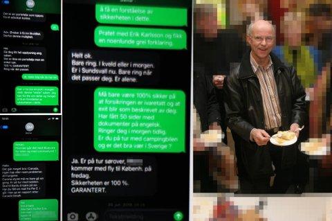 SKULLE VÆRE SIKKERT: På tekstmelding får investoren svar på sine bekymringer. Sikkerheten er hundre prosent garantert, står det i et av svarene fra Tromsø-mann Steinar Myrland. Alle investorene Nord24 har snakket med har fått samme lovnadene.