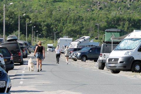 FRITT FRAM: Slik så det ut ved Ersfjordstranda på Senja i fjor sommer.
