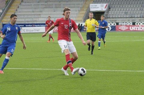 TATT UT: Julian Kristoffersen spilte for U21-landslaget lørdag.