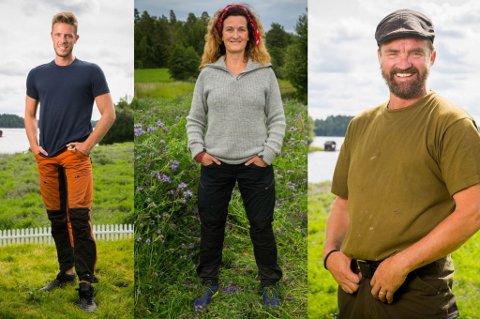 FRA VESTFOLD: Marius Hofsøy fra Horten (t.v.), Kari-Lise Vangen fra Holmestrand og Lasse Bergseter fra Barkåker/Stokke deltar i TV2s kommende sesong av Farmen.