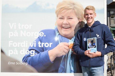 BORGERLIG REGJERING: Norge trenger fire nye år med borgerlig regjering, mener Magnus Karlsen Pedersen (17).