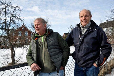 ØNSKEDRØM: – Kodial vil heve sin anseelse om de får til noe som nabolaget setter pris på, mener Wilfred Solberg og Ragnar Kristiansen, og lanserer forslaget om å gjøre om Beckerbohagen til en park.