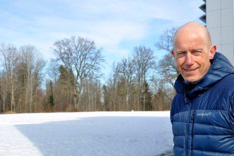 I REGULERINGSFASEN: Næringssjef i Horten kommune, Karl Jørgen Tofte legger til rette for at framoverlente bedrifter etablerer seg på det 190 daker store området som er satt av til næringsutvikling nord for forskningsparken.