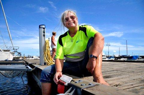 SUKSESS: Horten havnevesen ved driftssjef Bente Levin planlegger å utvide ordningen med utleie til gjesteplasser i Åsgårdstrand havn.