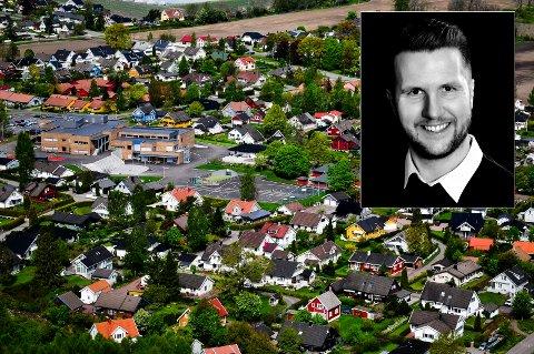 GIR IKKE OPP: I 3,5 halvt år har Brage Bergåker vært på jakt etter hus i hjembyen. I øyeblikket er det kun 19 objekter for salg i Horten kommune, hvorav de aller fleste uferdige prosjekter.