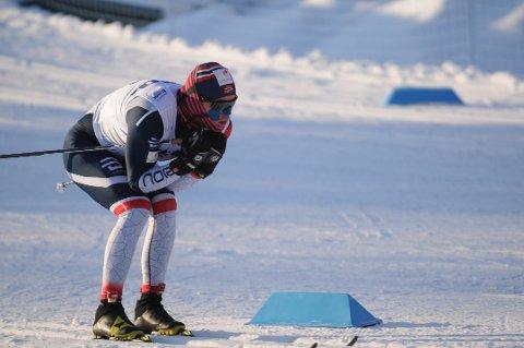 Sivert Wiig i aksjon i U23-VM i Lahti, hvor han til slutt ble nummer fem i sprintfinalen.