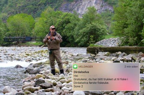 [b]DIRDALSELVA:[/b] Jarle Elnes er én av flere ivrige laksefiskere som blir å se langs elvas bredder når fiskesesongen starter i juni.