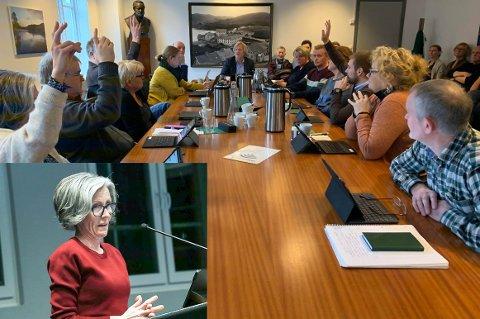 Marit Høie fra Høyre (innfelt) syns formannskapet i det minste burde latt planene for landoppdrett i Frafjord å litt lenger, for å få klar flere fakta, før de stemte forslaget ned.
