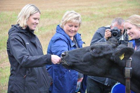 Landbruksminister Sylvi Listhaug og statsminister Erna Solberg må forberede seg på bråk når jordbruksforhandlingene innledes fredag. (Foto: ANB arkiv)