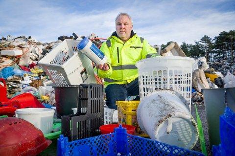 Trond Sørensen, daglig leder i GIR, sier at et ombrukstorg vil komme på gjenvinningsstasjonen på Kongsvinger, til gode for folk flest og for miljøet. Men først må området utvides.