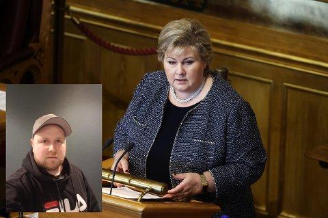 Peter Strandberg fra Charlottenberg har skrevet brev til statsminister Erna Solberg. Han er frustrert og forbannet over at han og arbeidskamerater som bosatt i Sverige, ikke får permisjon med lønn nå som de er forhindret fra å reise over grensen.