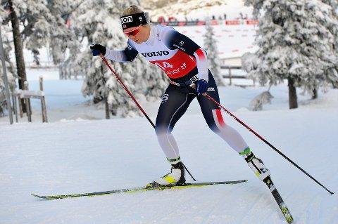 GÅR FORT: Amalie Håkonsen Ous er i ferd med å finne toppformen og den gode Nes Ski-utøveren er klar på at hun inspireres av Udnes Weng-tvillingene.