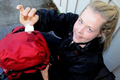 FRAMME: Hege Camilla Wiken (28) gikk fra Oslo til bestefarens hus på Otta. Foto: Vidar Heitkøtter
