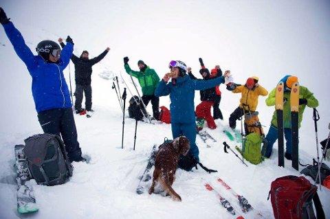 Populært: Mange vil vera med på tur under Lom skifestival til helga. Dette bildet er frå ein av fjorårets turar.Foto: Lom skifestival.