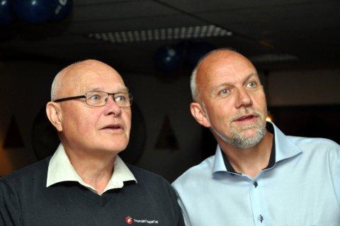 Venter på dommen: Stortingsrepresentant Morten Ørsal Johansen (t.h.) og fylkesleder Harald Eivind Bakke kjemper om samme topplass på Frp-lista.Arkivfoto: Jon Bernt Høigård