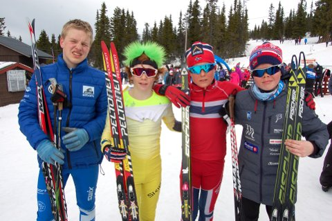 TALENTER: Noen av de beste gutta i G13. Fra v. Vemund Wangen, Falk Håkenstad-Bråten, begge Lillehammer Skiklub, Jo Mallaug og Ola Aurmo fra Lom IL.