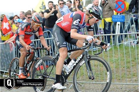 Edvald Boasson Hagen ble nummer 115 på onsdagens etappe i Tour de France.
