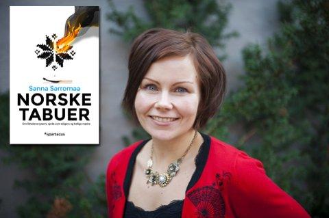 BOKAKTUELL: Sanna Sarromaa presenterer sin nye bok «Norske tabuer» på Gravdahl bokhandel i kveld. Arkivfoto: Silje Rindal