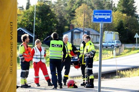LETEAKSJON: Politiet hadde stor hjelp av brann- og redningskorpsene fra Lesjaskog og Dombås.