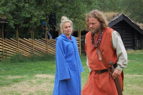 DRAMA: Line Verndal som Kristin Lavransdatter, under Kristinspelet 2016. Endre Skjåk hadde rollen som Simon Darre.