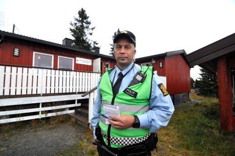 Leteaksjon på Sjusjøen etter mann (68) 3. oktober 2017 *** Local Caption *** Innsatsleder Kaare Nordgaard.