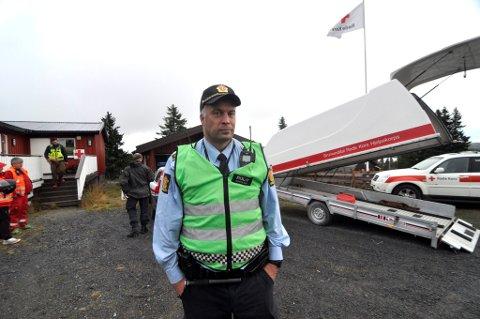 MANGE INVOLVERT: Innsatsleder Kaare Nordgaard er innsatsleder for leteaksjonen.