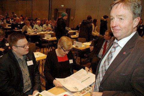 TO ÅR HOLDER: Tore Hagebakken ble valgt som leder i Oppland Ap i mars 2016. I mars 2018 kan valg av ny leder være et varsel om fornyet vitalitet i fylkespartiet.